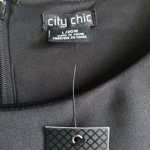 City Chic Dresses - NWT | Satin Chevron Fit & Flare Dress